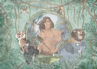 Фотообои «Тарзан и обитатели джунглей»