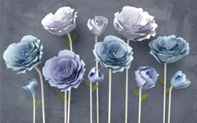 3D Фотообои «Загадочные цветы»