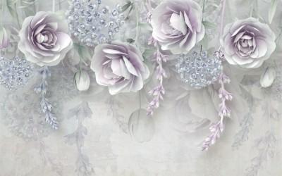 3D Фотообои  «Ниспадающая цветочная фантазия»