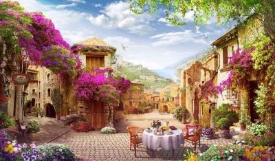 3D Фотообои «Тихая сицилийская улочка»