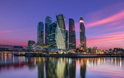 3D Фотообои «Москва Сити вечером»