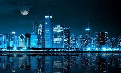 3D Фотообои «Неоновая ночь»