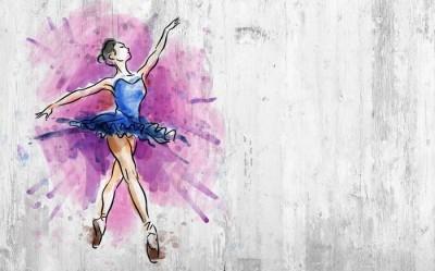 3D Фотообои «Балерина»