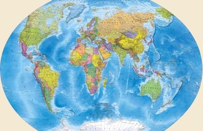 3D Фотообои «Мир политическая карта»