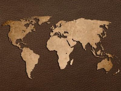 3D Фотообои  «Карта мира на коже»