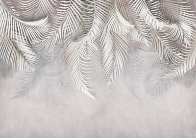 3D Фотообои «Роскошные пальмовые ветви»