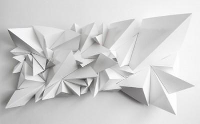 3D Фотообои «Острые полигоны»