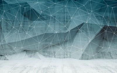 3D Фотообои «Полигоны с сеткой»
