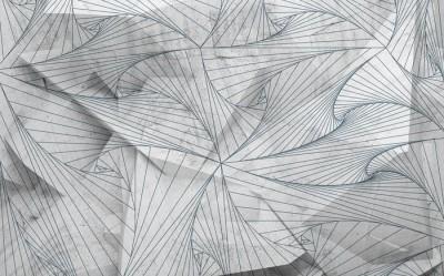 3D Фотообои «Узор на полигоне»