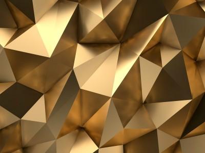 3D Фотообои «Роскошные полигоны»