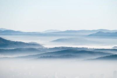 3D Фотообои «Туманная даль»