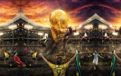 3D Фотообои «Битва за футбольный кубок»