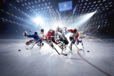 3D Фотообои «Хоккей»