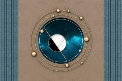 3D Фотообои «Окно в космический простор»