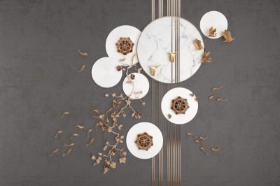 3D Фотообои «Флора и фауна в бронзе»