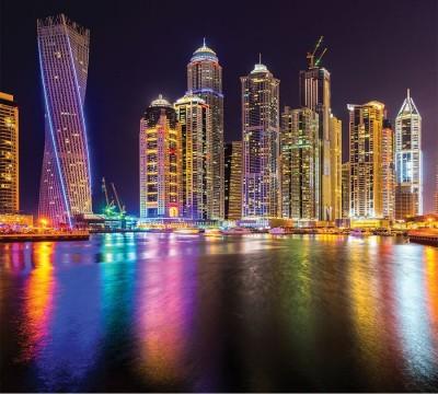 Фотошторы «Огни Дубая»