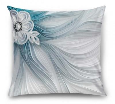 3D Подушка «Шелк цвета морской волны»