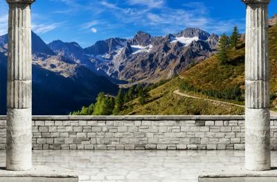 3D Фотообои «Вид на горные вершины»