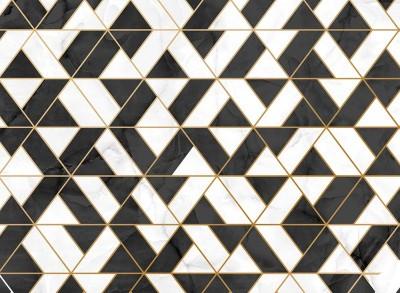 3D Фотообои «Треугольная фантазия на мраморе»