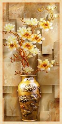 3D Фотообои «Объемная китайская ваза»