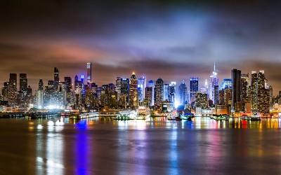 3D Фотообои «Ночной город»