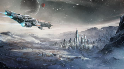 3D Фотообои  «Космический корабль»