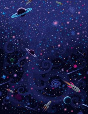 3D Фотообои «Космический узор»