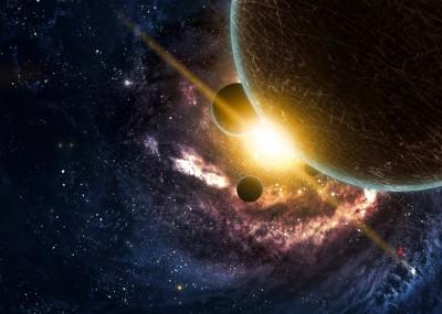3D Фотообои «Новая галактика»