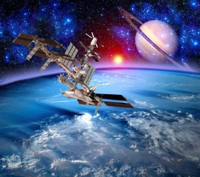 3D Фотообои  «Спутники»