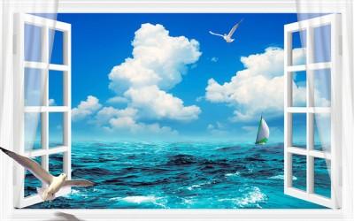 3D Фотообои  «Распахнутое в море окно»