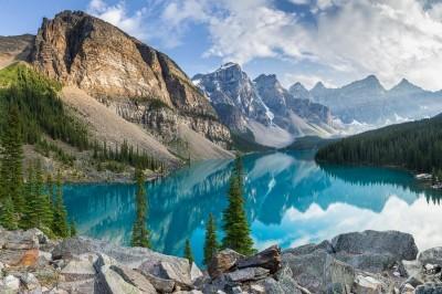 3D Фотообои  «Горное озеро в Альпах»