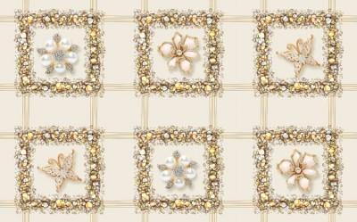 3D Фотообои «Ювелирная плитка»
