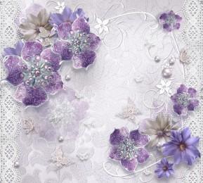 """Фотошторы """"Ювелирные фиолетовые цветы"""""""