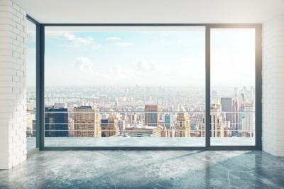 3D Фотообои «Вид из окна на солнечный день в городе»