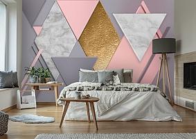 3D Фотообои  «Пастельная геометрия» вид 2