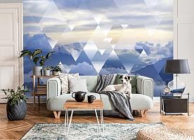 3D Фотообои  «Облачная геометрия» вид 7