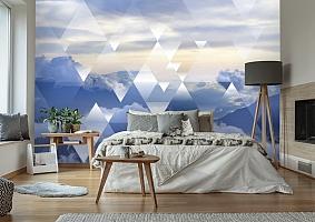3D Фотообои  «Облачная геометрия» вид 2