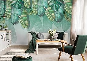 3D Фотообои  «Изумрудная пальма» вид 2