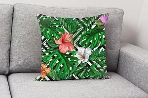 3D Подушка «Листья папоротника с цветами» вид 4