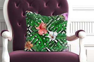 3D Подушка «Листья папоротника с цветами» вид 5