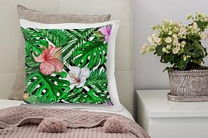3D Подушка «Листья папоротника с цветами» вид 6