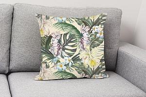 3D Подушка «Какаду в цветущих тропиках» вид 4