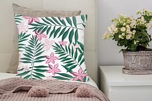 3D Подушка «Нежность в тропическом саду» вид 2
