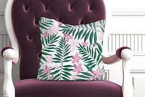 3D Подушка «Нежность в тропическом саду» вид 5