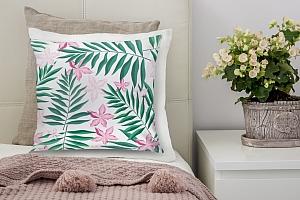 3D Подушка «Нежность в тропическом саду» вид 6