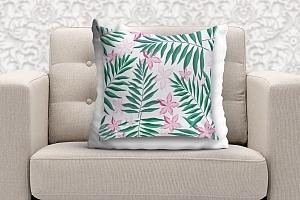 3D Подушка «Нежность в тропическом саду» вид 9