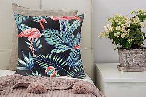 3D Подушка «Тропическая ночь.Фламинго» вид 2