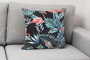 3D Подушка «Тропическая ночь.Фламинго» вид 4