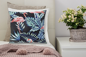 3D Подушка «Тропическая ночь.Фламинго» вид 6