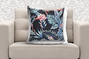 3D Подушка «Тропическая ночь.Фламинго» вид 9